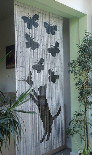 Leguana Bambustürvorhang Bambusvorhang Lucky Cat ca. 90x200cm, 90 Stränge
