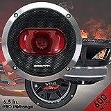 Gravity Warzone Series 6.5' inch Pro Midrange Coaxial Loud Speaker 4-Ohms with 600W Max, 1 Speaker WZP65