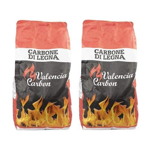 VIRSUS Carbone di Legna Sacco da 2,5 kg Netti Puro Carbone per Barbecue, Grill, Grigliata o Barbecue da Tavolo Senza Fumo Varie quantit (2)
