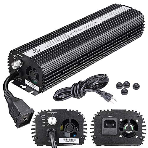 Yescom 1000W HPS MH Digital Electronic Dimmable Ballast for Grow Light Bulb Lamp with Internal Fan Dimming Options