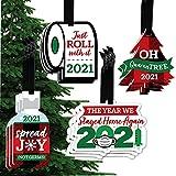 Big Dot of Happiness Oh Quarantree - 2021 Quarantine Christmas Holiday Decorations - Christmas Tree Ornaments - Set of 12 (Kitchen)