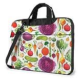 IUBBKI Funda para Ordenador portátil Funda para Ordenador Funda de Manga Colorida Pintura de Verduras maletín Impermeable para Hombro 13 14 15,6 Pulgadas