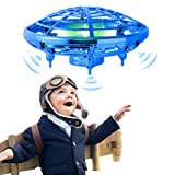 Flying Toy Mini Drone for Kid, Hand Controlled Flying Ball with LED Light, UFO Helicopter with 2 Speed, Easy Indoor Outdoor Levitation Drone with 360 Rotating Gift for Teenager Boy Girl