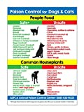 Poison Control for Dogs and Cats Refrigerator Magnet - Food and Plants Toxic to Cats and Dogs Kitchen Magnet - Animal Safety Magnet - 5 inches x 7 inches