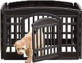 Iris Ohyama Ci-604E Cage pour chien en plastique Noir 91,5 x 91,5...