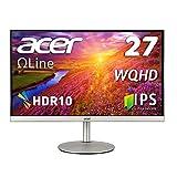 Acer WQHDディスプレイ CB272Usmiiprx 27型ワイド IPS 非光沢 WQHD(2560×1440) 1ms (VRB) 48-75Hz(HDMI/DisplayPort) HDMI HDR10 高さ調整