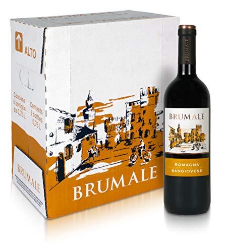 Brumale - Vino Rosso Sangiovese di Romagna DOC - Confezione da 6 bottiglie