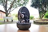 Zen'Light Fontaine Bouddha Grace, Résine, Bronze, 26 x 26 x 40 cm