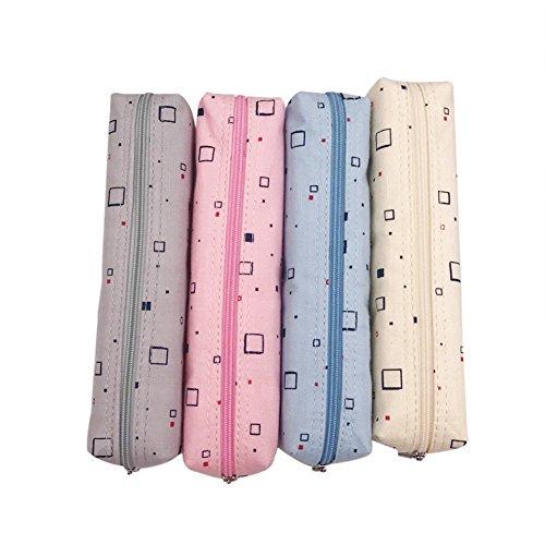 cdet Tela astuccio borsa piccola penna di juta quadrato Tela di scrivania di tela regalo di...