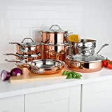 13-Piece Tri-Ply Copper Cookware Set by Viking