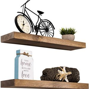 Imperative Décor Floating Shelves Rustic Wood Wall Shelf USA Handmade | Set of 2 (Special Walnut, 24' x 5.5')