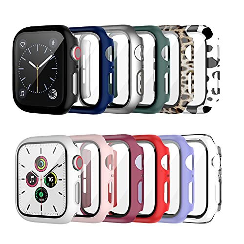 Haojavo 12-pack of Apple Watch cases with tempered glass screen protector