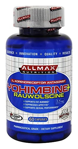 ALLMAX Nutrition Yohimbine HCI + Rauwolscine, 3.0 mg, 60 Capsules