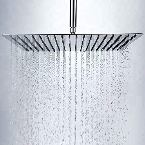 MARCOWARE Stainless Steel 6X6 Inches Overhead Shower, CHROME, Polished Finish