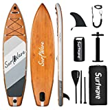 Surfwave Inflatable Paddle Board, 11'×33'' Stand Up SUP Board W/Camera Mount, 5L Waterproof Bag, Floatable Paddle, 5MIN Fast Inflate, Ideal for Beginners & Expects, Fresh or Salt Water…
