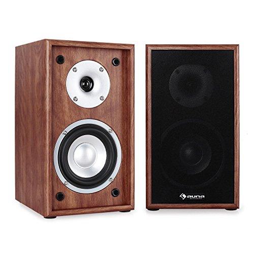 AUNA Linie-300-SF-WN Coppia diffusori passivi (70W RMS, Sistema 2 Vie, HiFi, Home Cinema, Woofer13...