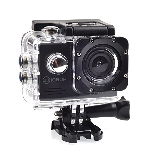 SAC フルHD 1080p 対応アクションカメラ 2インチ液晶 30M防水ケース付き AC200BK