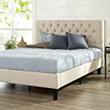 Zinus Misty Platform Bed, Queen, Taupe
