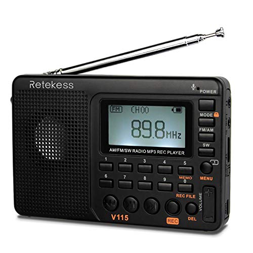 Retekess V115 Shortwave Radio, AM FM Radio Digital Tuner,...