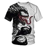 Leezeshaw Camisetas 3D unisex para hombre de Marvel Heroes Venom/Spider-Man impresas de manga corta...