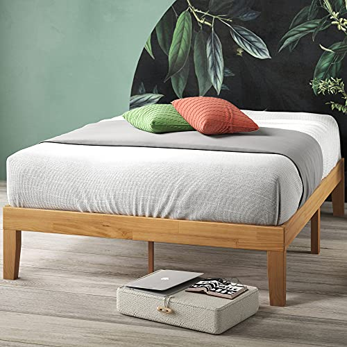 Zinus Frame 14 Inch Platform Bed/No Boxspring Needed/Wood Slat Support/Natural Finish, Full