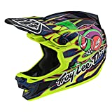 Troy Lee Designs Adult | Limited Edition | BMX | Downhill Mountain Bike D4 Composite Eyeball Helmet (Flo Yellow, XXL)
