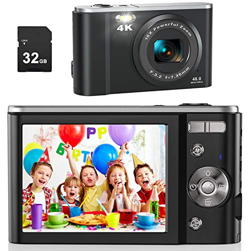 Digital Camera for Photography Beginners, AiTechny 4K 44MP...