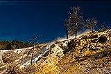 イエローストーン国立公園の壁紙-自然の壁紙-#26289 - キャンバス ステッカー 印刷 壁紙ポスター はがせるシール式 写真 特大 絵画 壁飾り 90cmx60cm