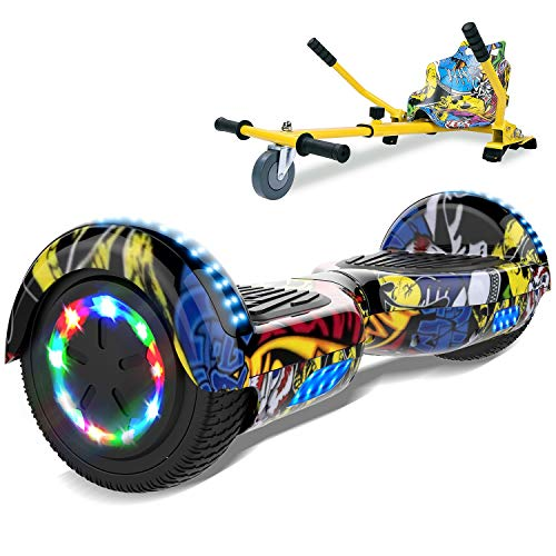 SOUTHERN-WOLF Hoverboard, Bluetooth 6.5 Pouces Self Balancing Scooter Gyropode avec Roues Flash LED E-Scooter z29 (Hip-hop)