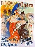 KEAPSIGN Plaque en métal rétro classique – Théâtre de l'Opera – Poster publicitaire vintage français – Affiche classique vintage décoration murale 20 x 30 cm