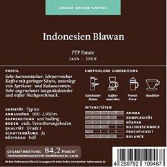 Berliner Kaffeerösterei Indonesien Java Blawan