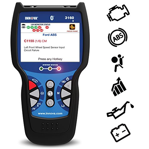 Innova 3160g Pro OBD2 Scanner / Car Code Reader with Live data, ABS, SRS, Battery Reset, Service Light Reset, and Bluetooth
