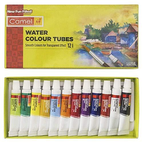 Camline Camel Kokuyo Student Water Color Tube - 5ml Each (12 Colour)