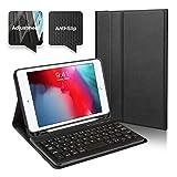 Coque pour iPad Mini 4 Clavier Bluetooth en AZERTY, Étui de Protection avec Support Multi Angles Sommeil Veille Automatique