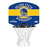 SPALDING - NBA MINIBOARD GOLDEN STATE (77-661Z) - Mini Panier Basket - Logo Officiel NBA - Mini Ballon Inclus - multicolore