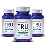 TRU NIAGEN Nicotinamide Riboside - Patented NAD Booster for Cellular Repair & Energy, 150mg Vegetarian Capsules, 300mg Per Serving, 30 Day Bottle (Pack of 3)