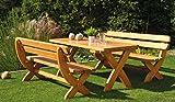 Design Holzgarnitur Holz Sitzgruppe Rainbach edel und stabil