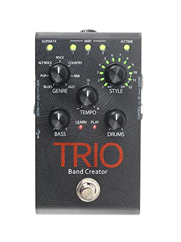 Digitech TRIO Electric Guitar Multi Effect, Band Creator Pedal, Power Supply Included