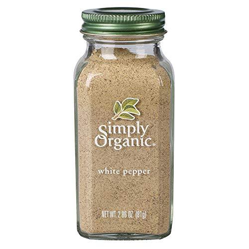 Simply Organic White Pepper, Certified Organic   2.86 oz   Piper nigrum L.