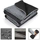 Tirrinia Waterproof Outdoor Blanket with Sherpa Lining, Windproof Triple Layers Warm Comfy Foldable for Camping Stadium, Sports, Picnic, Grass, Concerts, Pet, 51''X 59'' - Machine Washable