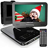 DBPOWER 12' Portable DVD Player with 5-Hour Rechargeable Battery, 10' Swivel Display Screen and SD/...