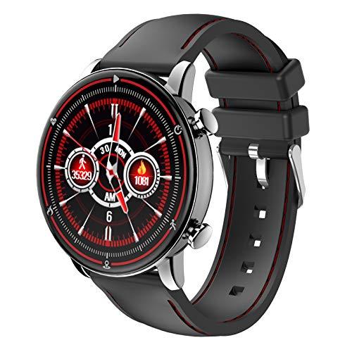 LTLGHY Smartwatch per Uomo Donna, 1,3 Pollici Bluetooth Smart Watch Cardiofrequenzimetro da Polso Schermo Colori Orologio Sportivo Calorie Activity Tracker,per Android iOS,Grigio