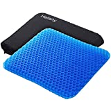 Gel Seat Cushion,1.65inch Double Thick Egg Seat Cushion,Non-Slip Cover,Help in Relieving Back Pain &...