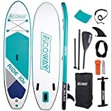 Acoway Inflatable Stand Up Paddle Board, 10'6' Long 33' Wide 6' Thick SUP Package, Perfect for Yoga Fishing Touring