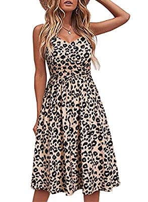 💓 FUNCTIONAL POCKETS AND FASHIONABLE GATHERED BUST : This is womens summer dresses. Both sides have nice pockets are great for carry your phone or useful items. Flattering gathered bust and gathered skirt features add some pizzazz and give the dress ...