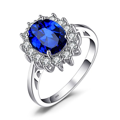 JewelryPalace Princesse Diana William Kate Middleton's 2.8 ct Bleu Saphir...