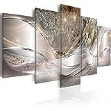 murando Impression sur Toile intissee Abstrait Fleurs 200x100 cm 5 Parties...