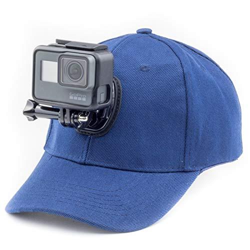 Digicharge Cappellino da Baseball con Supporto per Action Camera Compatibile con GoPro Hero Akaso Crosstour Campark Fitfort Garmin VIRB Apeman Sony Camkong Motorola Victure Kitvision Nikon
