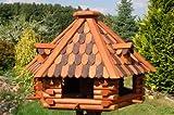 Deko-Shop-Hannusch XXL massives Vogelhaus 70 x 45 cm, Vogelfutterhaus, Vogelhäuser + absolut. Blickfang + imprägniert