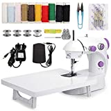 MinRi Mini Sewing Machine with Upgrade Extension Table Adjustable Double Threads and Two Speeds...